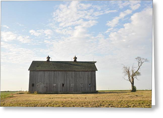 Lonely Barn Greeting Card by Daniel Ness