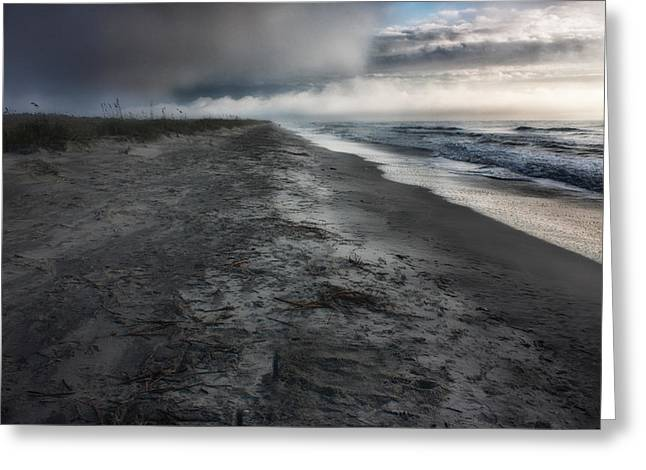 Carolina Greeting Cards - Lonely Beach Greeting Card by Matt  Trimble