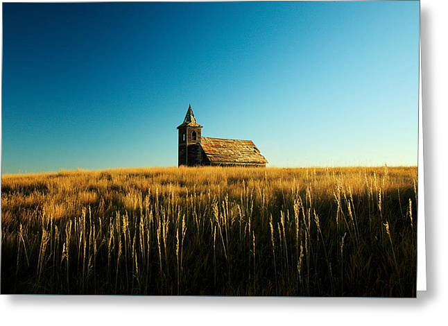 Lonely Old Church Greeting Card by Todd Klassy