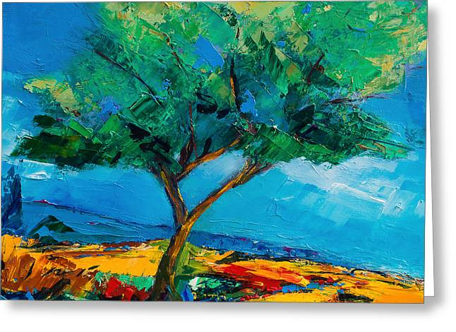 Lonely Olive Tree Greeting Card by Elise Palmigiani