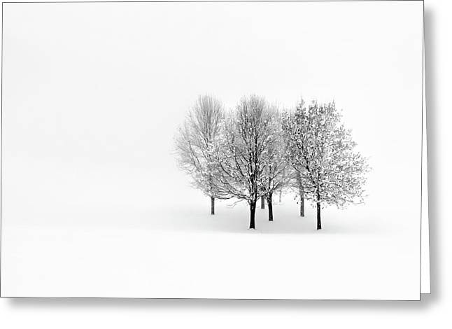 Minimal Landscape Greeting Cards - Lonely Greeting Card by Pawel Klarecki