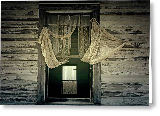Haunted Barn Greeting Cards - Lonely Wind Greeting Card by Jerry Cordeiro