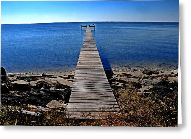 Lyle Huisken Greeting Cards - Lonesome Dock Greeting Card by Lyle  Huisken