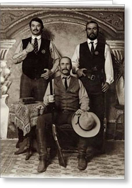 Lonesome Dove 3 Texas Rangers San Antonio Greeting Card by Peter Nowell
