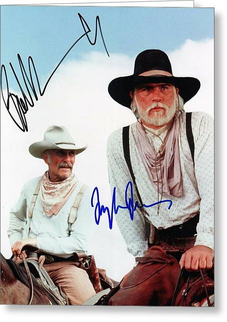 Lonesome Dove Gus And Call Signed Print Greeting Card by Peter Nowell