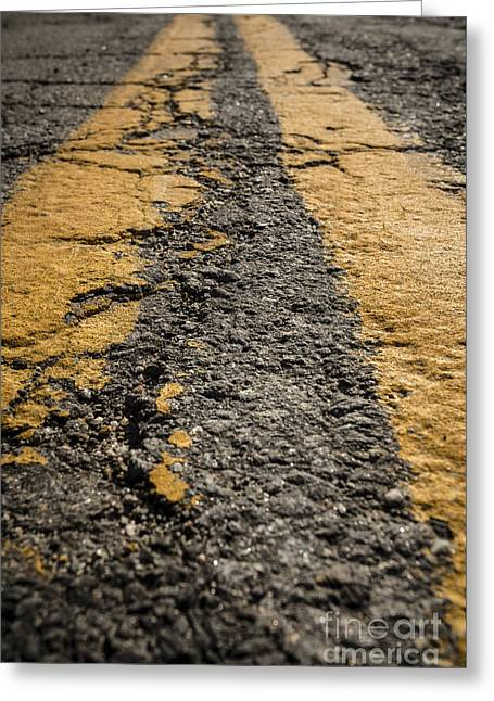 Repaired Greeting Cards - Lonesome Highway Greeting Card by Edward Fielding