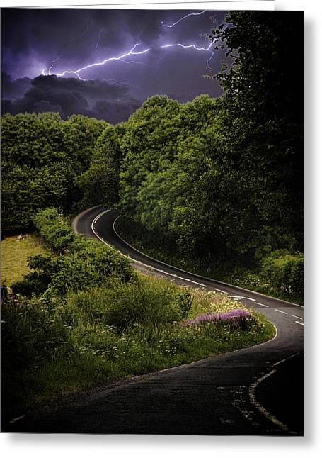 Long And Winding Road Greeting Card by Martin Newman