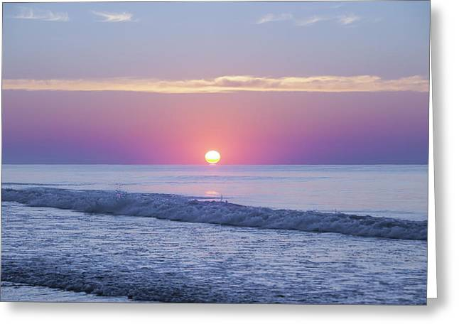 Ocean Photography Greeting Cards - Long Beach Island Sunrise Greeting Card by Bill Cannon