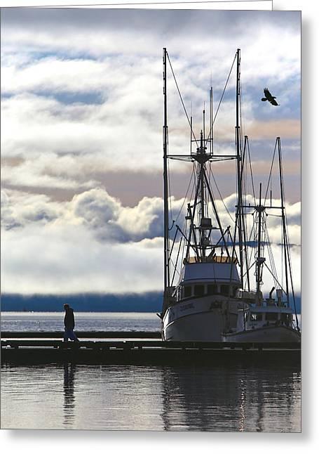 Sailboat Art Greeting Cards - Long Day Greeting Card by Perri Kelly