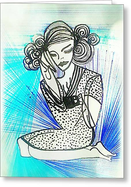 Cellphone Greeting Cards - Long Distance   Greeting Card by Aileen Reyes