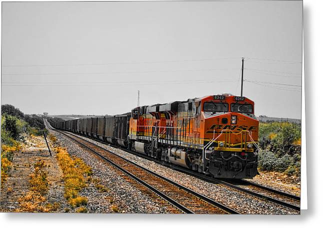 Diesel Locomotives Greeting Cards - Long Distance Greeting Card by Douglas Barnard