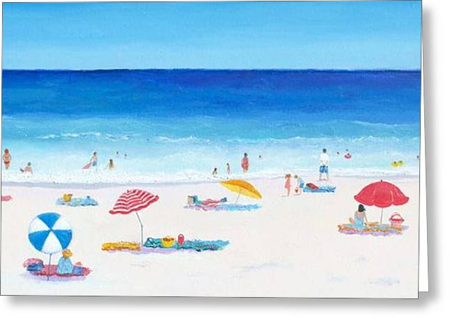 Beach Themed Paintings Greeting Cards - Long Hot Summer Greeting Card by Jan Matson