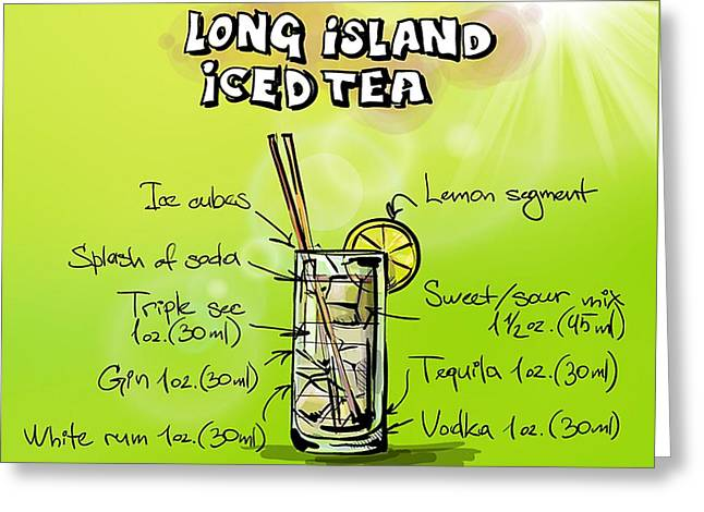 Long Island Iced Tea Cocktail Greeting Card by Spencer McKain