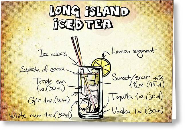 Gathering Mixed Media Greeting Cards - Long Island Iced Tea Greeting Card by Movie Poster Prints