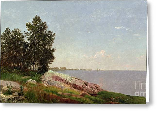 Connecticut Greeting Cards - Long Island Sound at Darien Greeting Card by John Frederick Kensett