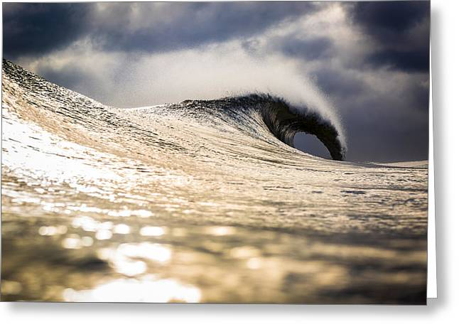 Long Island Wild Weather Wave Greeting Card by Ryan Moore