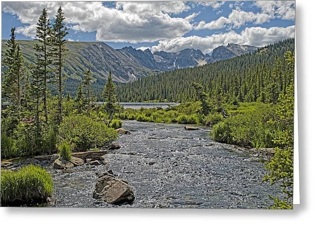 Indian Peaks Greeting Cards - Long Lake in the Indian Peaks Wilderness Colorado Greeting Card by Brendan Reals