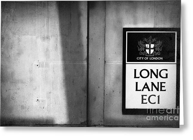 Long Lane Ec1 Greeting Card by Rod McLean