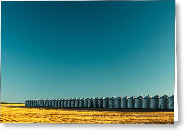 Long Line Of Bins Greeting Card by Todd Klassy