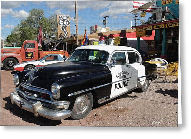 Old Police Cruiser Greeting Cards - Long Retired  Greeting Card by Gordon Beck