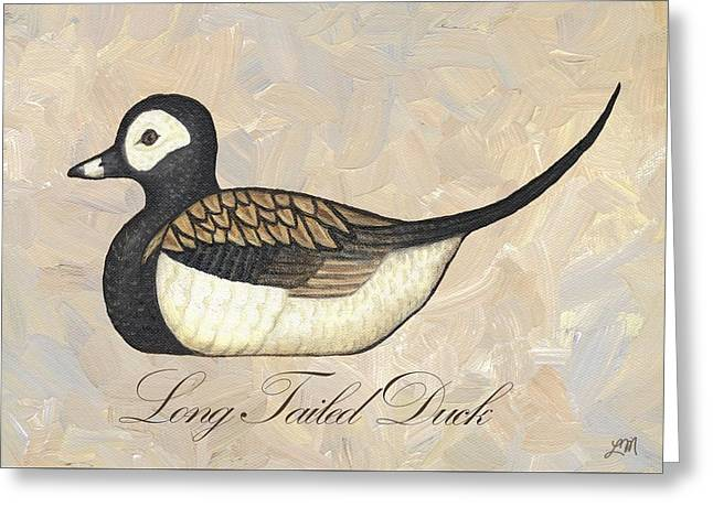 Hunting Cabin Digital Art Greeting Cards - Long Tailed Duck Greeting Card by Linda Mears