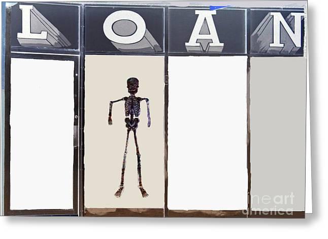 Print Greeting Cards - Long Term Loans Greeting Card by Joe Jake Pratt