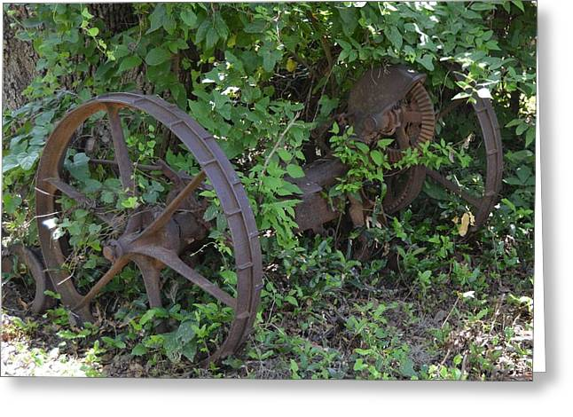 Axle Gear Greeting Cards - Long Time Forgotten Greeting Card by Don McAllister