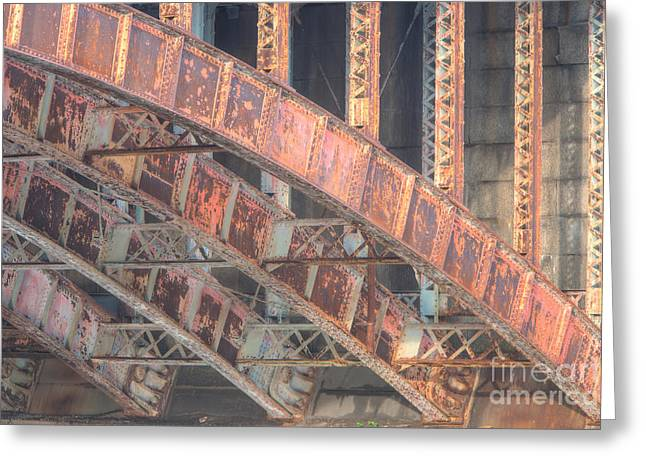 Longfellow Bridge Arches IIi Greeting Card by Clarence Holmes