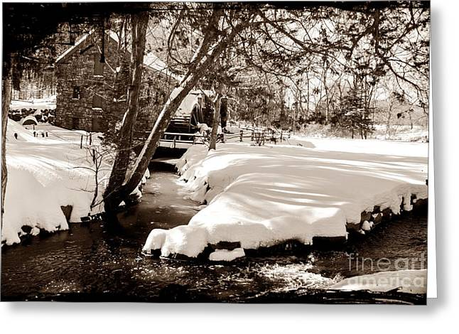 Wayside Inn Greeting Cards - Longfellows Mill Greeting Card by Frank Garciarubio