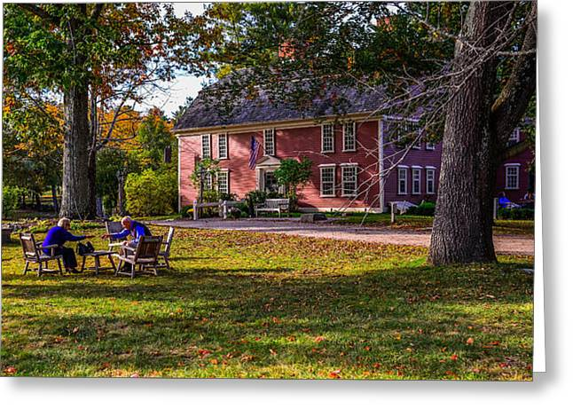 Wayside Inn Greeting Cards - Longfellows Wayside Inn Greeting Card by Jim Archer
