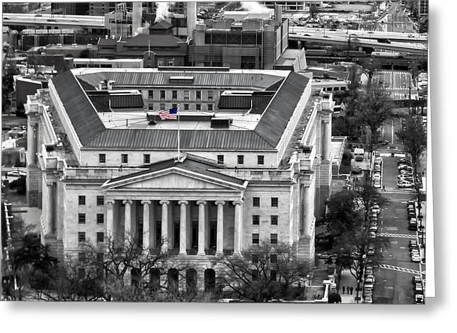 South Congress Greeting Cards - Longworth House Office Building Greeting Card by Mitch Cat