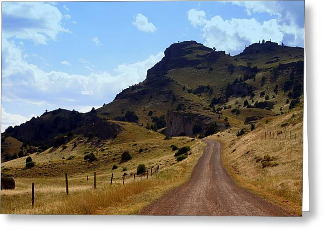 Lonly Road Greeting Card by Marty Koch