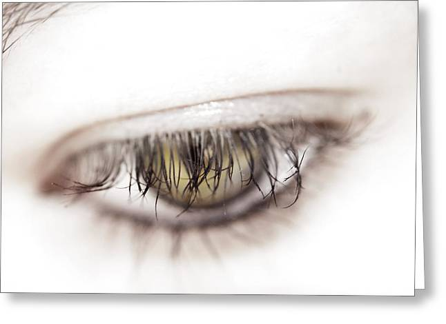Eyelash Greeting Cards - Look away Greeting Card by Kelly Jade King