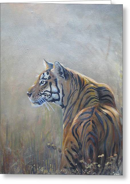 Stripes Sculptures Greeting Cards - Look Out Greeting Card by Todd  Gates