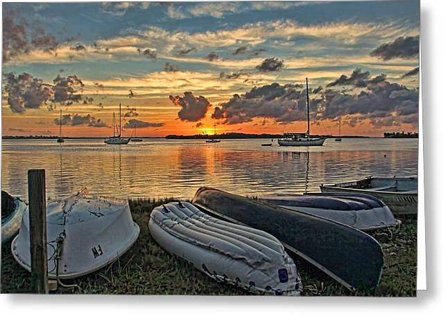 Sailboat Art Greeting Cards - Look To This Day by H H Photography of Florida Greeting Card by HH Photography of Florida