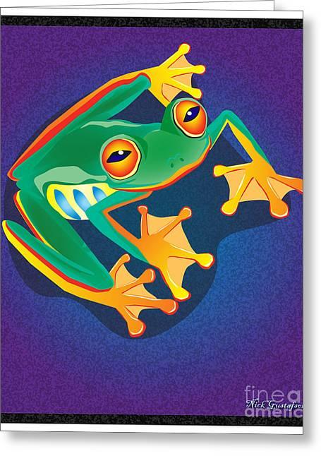 Amphibians Digital Art Greeting Cards - Lookin at you Greeting Card by Nick Gustafson