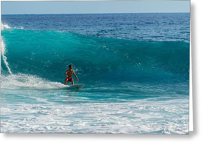 Surfing Art Greeting Cards - Looking Ahead Greeting Card by Chris and Wally Rivera
