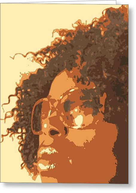 African-americans Greeting Cards - Looking Ahead Greeting Card by Nissy G