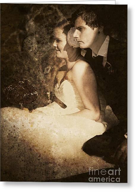 Bridegroom Greeting Cards - Looking Back On Wedding Memories Greeting Card by Ryan Jorgensen