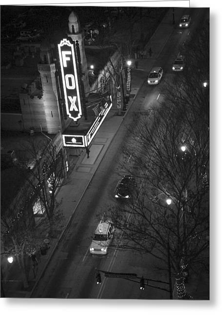 Egyptian Theatre Greeting Cards - Looking Down on The Fox 2 Atlanta Georgia Greeting Card by Reid Callaway