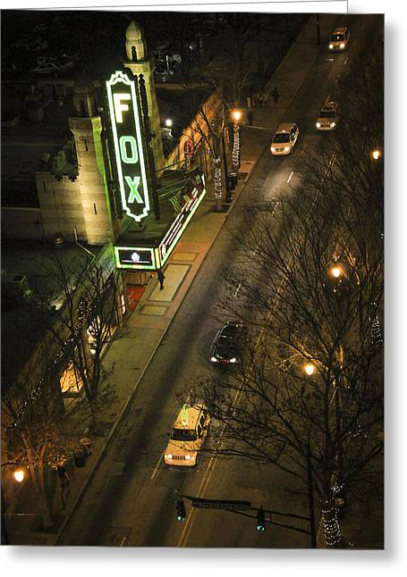 Egyptian Theatre Greeting Cards - Looking Down on The Fox Atlanta Georgia Greeting Card by Reid Callaway