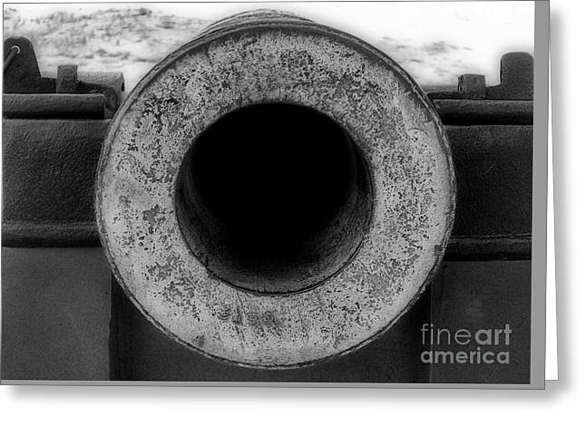 Beach Photography Greeting Cards - Looking Down The  Barrel Greeting Card by Skip Willits