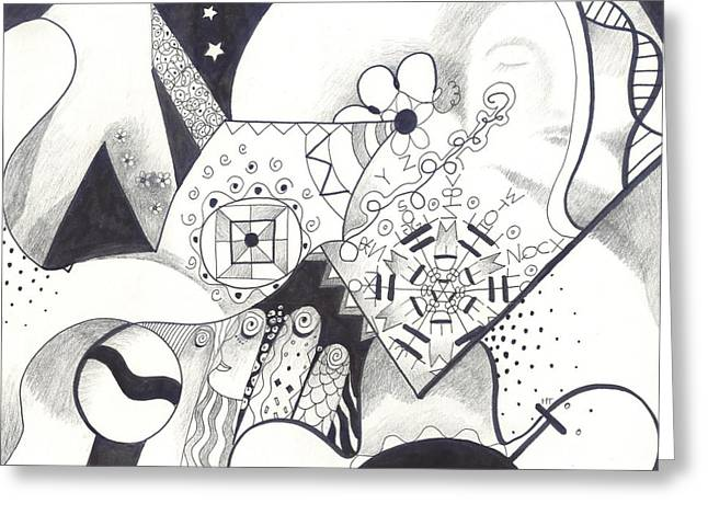 Inner Reality Greeting Cards - Looking for the Universe in a Grain of Sand Greeting Card by Helena Tiainen
