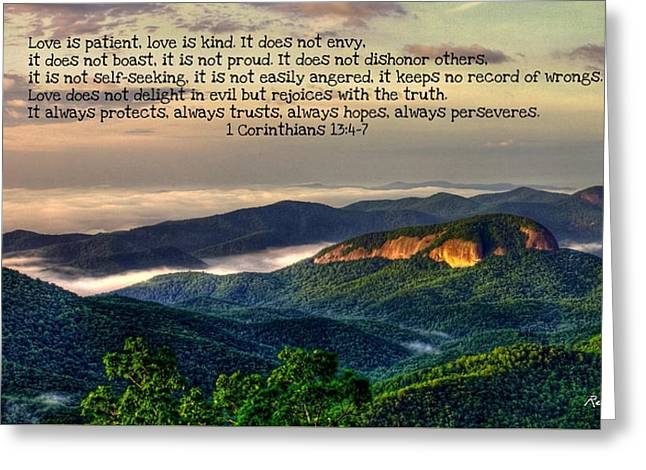 Looking Glass Rock 7 The Love Chapter Greeting Card by Reid Callaway
