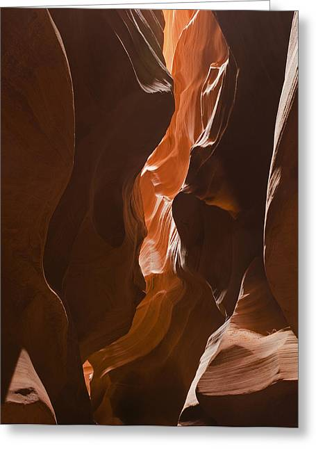 Sand Art Greeting Cards - Looking into the Canyon Greeting Card by Andrew Soundarajan