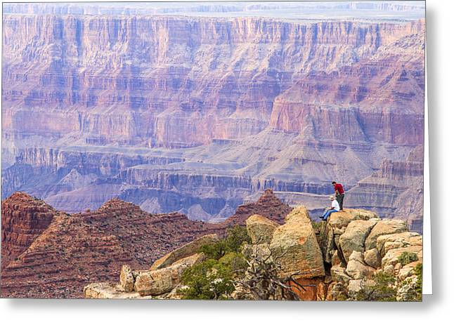 Looking Out From Lipan Point 2 Greeting Card by Jessica Velasco
