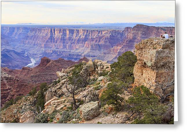Looking Out From Lipan Point Greeting Card by Jessica Velasco