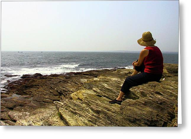 Looking Out To Sea Greeting Card by Frank Winters