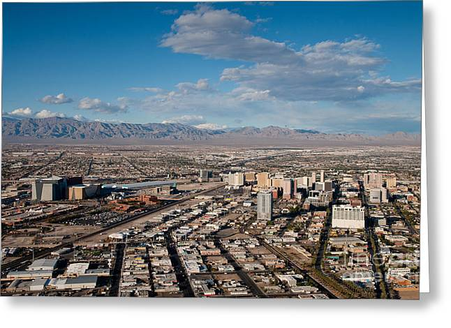 Looking over Downtown Greeting Card by Andy Smy