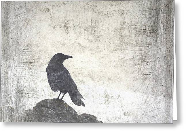 Blackbirds Greeting Cards - Looking Seaward Greeting Card by Carol Leigh